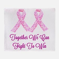 Together Fight To Win Throw Blanket