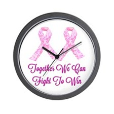 Together Fight To Win Wall Clock