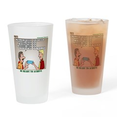 Blue Card Blues Drinking Glass