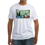 Skunk and Raccoon Snack Fitted T-Shirt