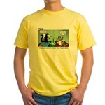 Skunk and Raccoon Snack Yellow T-Shirt