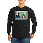 Skunk and Raccoon Snack Long Sleeve Dark T-Shirt