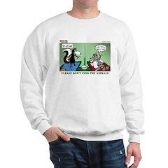 Skunk and Raccoon Snack Sweatshirt