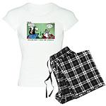 Skunk and Raccoon Snack Women's Light Pajamas