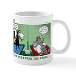 Skunk and Raccoon Snack Mug