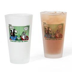 Skunk and Raccoon Snack Drinking Glass