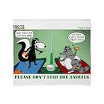 Skunk and Raccoon Snack Throw Blanket