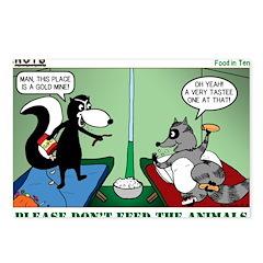 Skunk and Raccoon Snack Postcards (Package of 8)
