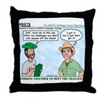 Scout Challenge Course Throw Pillow