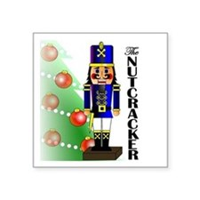 "Nutcracker Ballet Square Sticker 3"" x 3"""