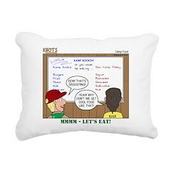 Camp Food Rectangular Canvas Pillow