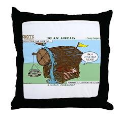 Camp Gadgets Throw Pillow