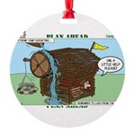 Camp Gadgets Round Ornament