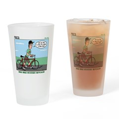 Bike Hike Drinking Glass