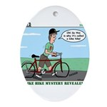 Bike Hike Ornament (Oval)