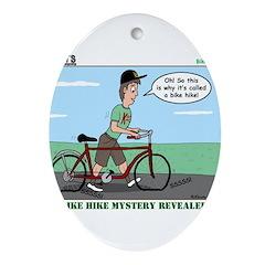 Bike Hike Ornament (Oval)