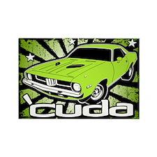 'Cuda - Sub Lime Rectangle Magnet