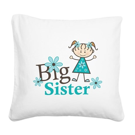 Big Sister Square Canvas Pillow