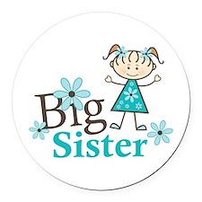 Big Sister Round Car Magnet