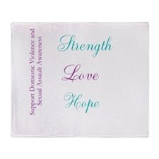 Strength Love Hope Throw Blanket