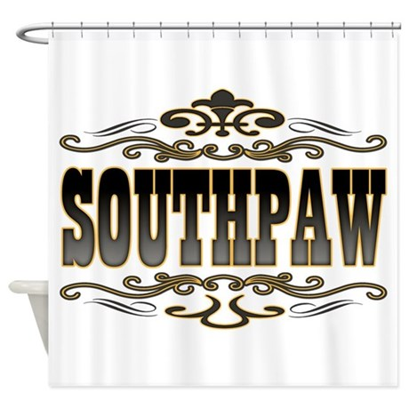 Southpaw Swirl Shower Curtain