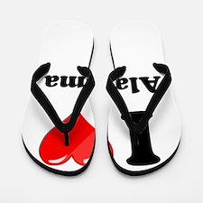 I Heart Love Alabama.png Flip Flops