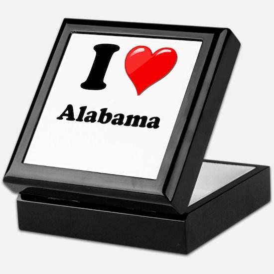 I Heart Love Alabama.png Keepsake Box