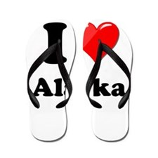 I Heart Love Alaska.png Flip Flops