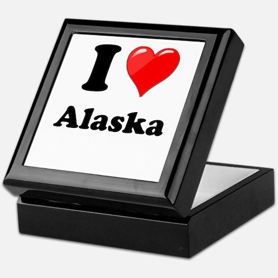 I Heart Love Alaska.png Keepsake Box