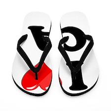 I Heart Love CA California.png Flip Flops