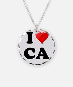 I Heart Love CA California.png Necklace
