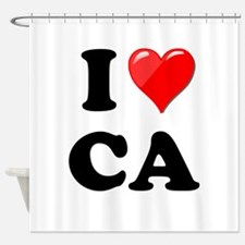 I Heart Love CA California.png Shower Curtain