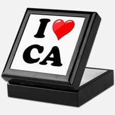 I Heart Love CA California.png Keepsake Box