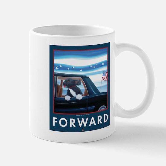 Forward with Bo, the 1st Dog Mugs