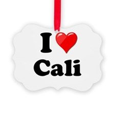 I Heart Love Cali California.png Ornament