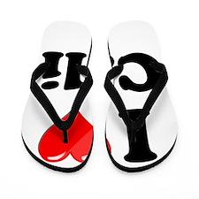 I Heart Love Cali California.png Flip Flops