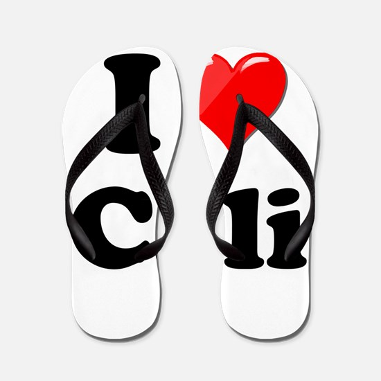 I Heart Love Cali California.png Flip Flops