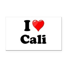 I Heart Love Cali California.png Rectangle Car Mag