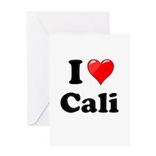 I Heart Love Cali California.png Greeting Card