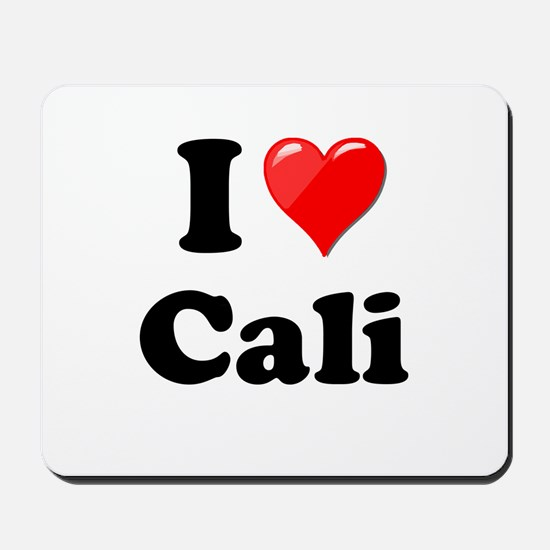 I Heart Love Cali California.png Mousepad