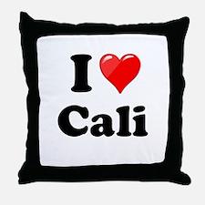 I Heart Love Cali California.png Throw Pillow