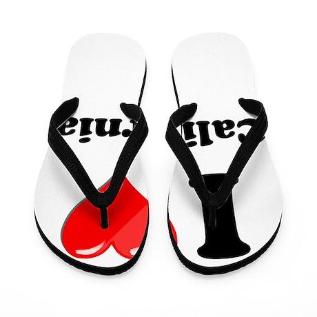 I Heart Love California.png Flip Flops
