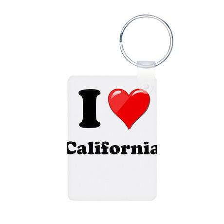 I Heart Love California.png Aluminum Photo Keychai