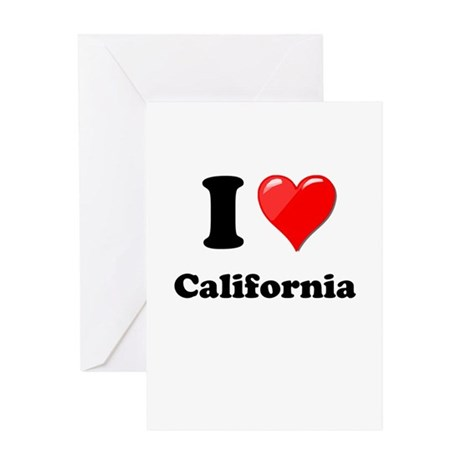 I Heart Love California.png Greeting Card