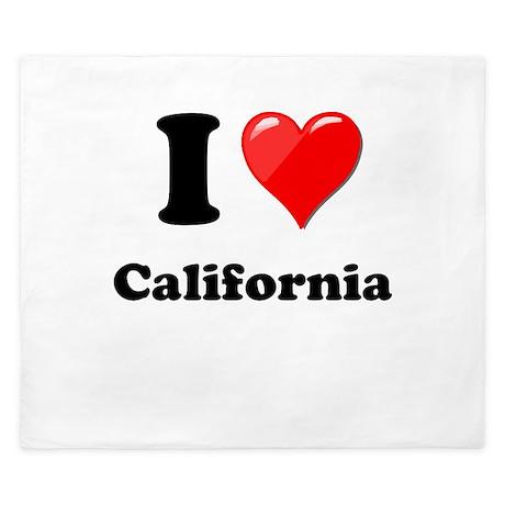 I Heart Love California.png King Duvet