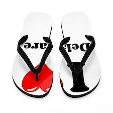 I Heart Love Delaware.png Flip Flops