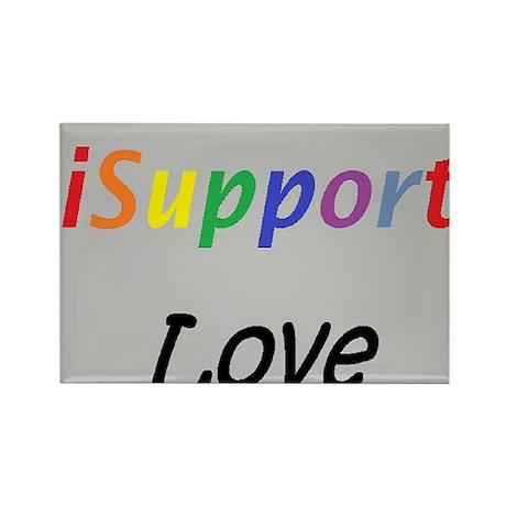 iSupport Love- iSupport Rectangle Magnet