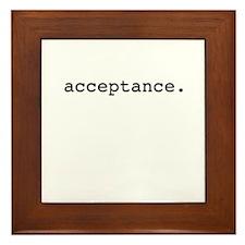 acceptance. Framed Tile