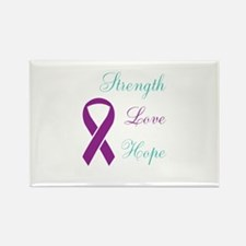 Cool Domestic violence sexual assault ribbon Rectangle Magnet