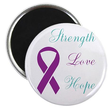 Strength Love Hope Ribbon Magnets